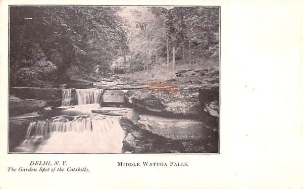 Middle Watuga Falls Delhi, New York Postcard