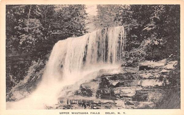 Upper Wautauga Falls Delhi, New York Postcard