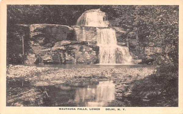 Wautauga Falls, Lower Delhi, New York Postcard
