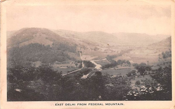 East Delhi from Federal Mountain New York Postcard