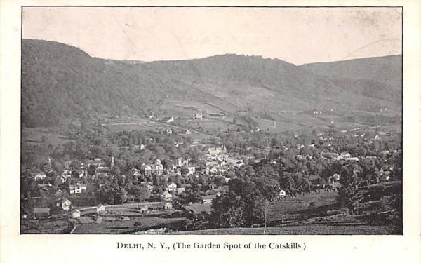 Garden Spot of the Catskills Delhi, New York Postcard