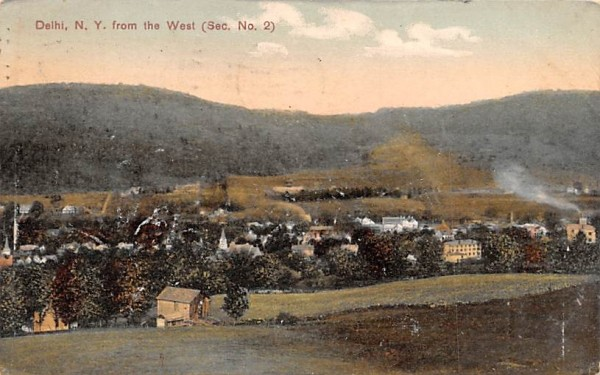 From the West Delhi, New York Postcard