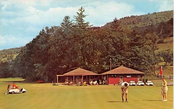 College Golf Club Delhi, New York Postcard