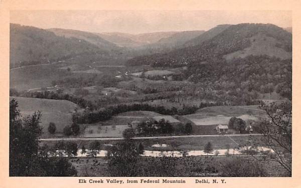 Elk Creek Valley Delhi, New York Postcard