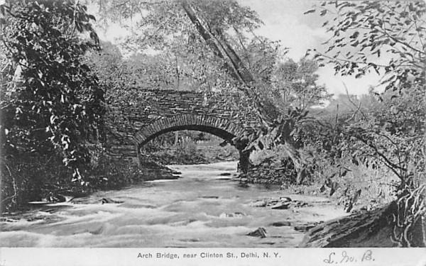 Arch Bridge Delhi, New York Postcard