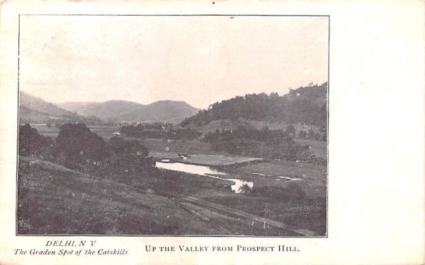 Up the Valley from Prospect Hill Delhi, New York Postcard