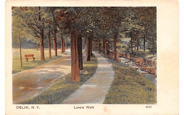 Lovers Walk Delhi, New York Postcard