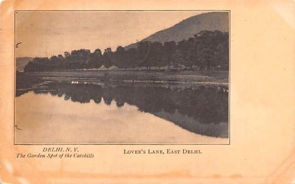 Lover's Lane Delhi, New York Postcard