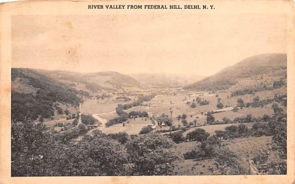 River Valley Delhi, New York Postcard