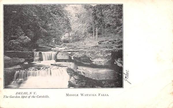 Middle Watauga Falls Delhi, New York Postcard