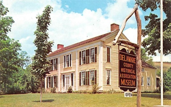 Delaware County Historical Association Museum Delhi, New York Postcard