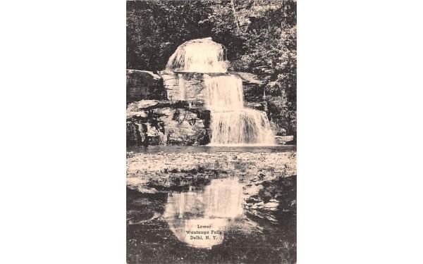 Lower Wautauga Falls Delhi, New York Postcard