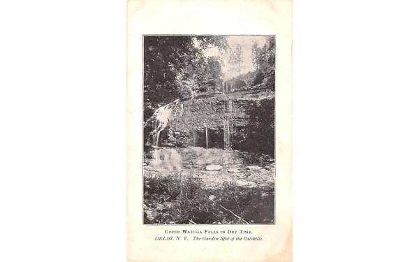 Upper Watauga Falls in Dry Time Delhi, New York Postcard
