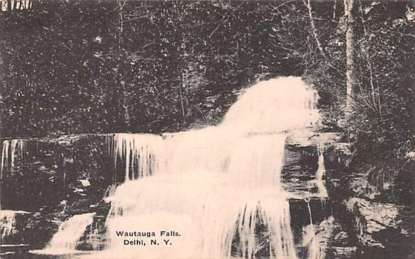 Wautauga Falls Delhi, New York Postcard