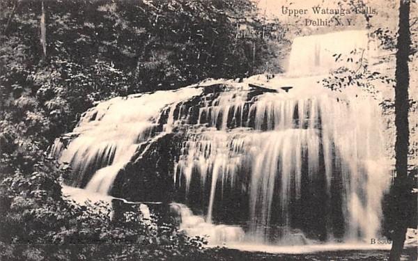 Upper Watauga Falls Delhi, New York Postcard