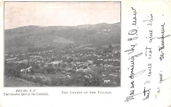 Center of the Village Delhi, New York Postcard
