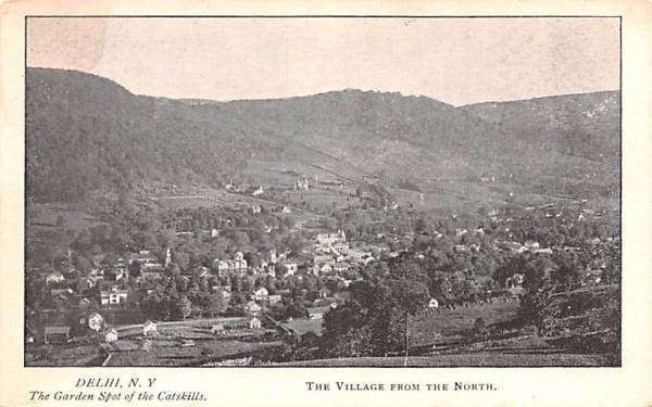 Village from the North Delhi, New York Postcard
