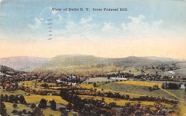 From Federal Hill Delhi, New York Postcard
