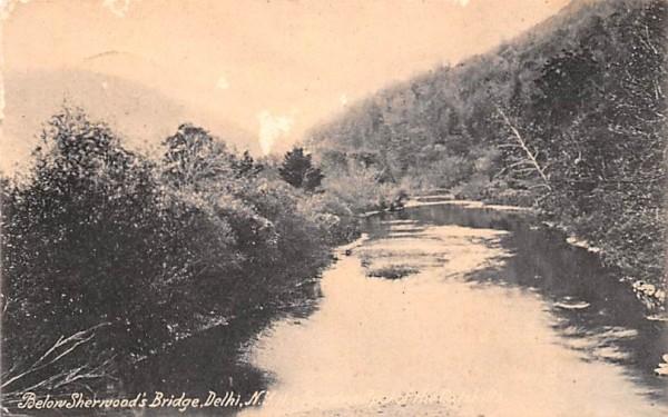 Below Sherwood's Bridge Delhi, New York Postcard