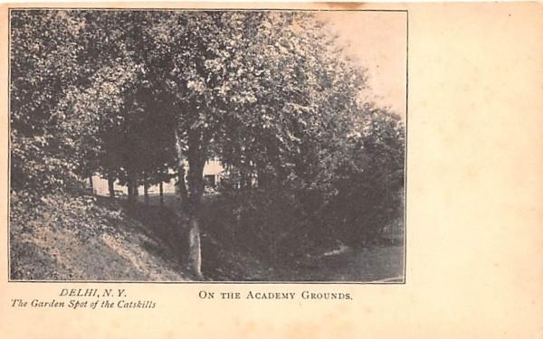 On the Academy Grounds Delhi, New York Postcard
