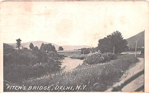 Fitch's Bridge Delhi, New York Postcard