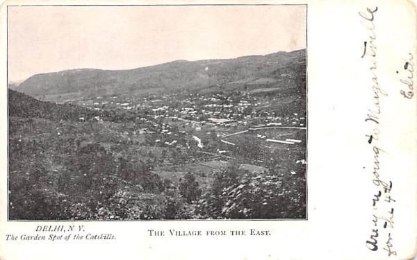 Village from the East Delhi, New York Postcard
