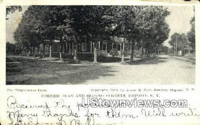 Corner Dean - Deposit, New York NY Postcard