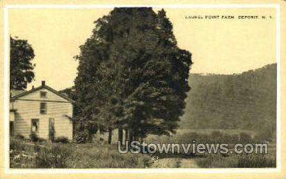 Laurel Point Farm - Deposit, New York NY Postcard