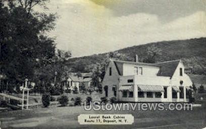 Laurel Bank Cabins - Deposit, New York NY Postcard