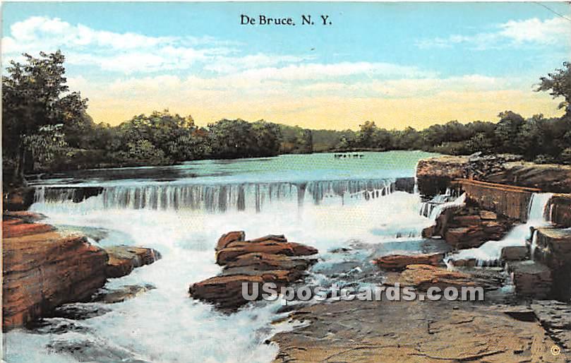 Waterfall - De Bruce, New York NY Postcard