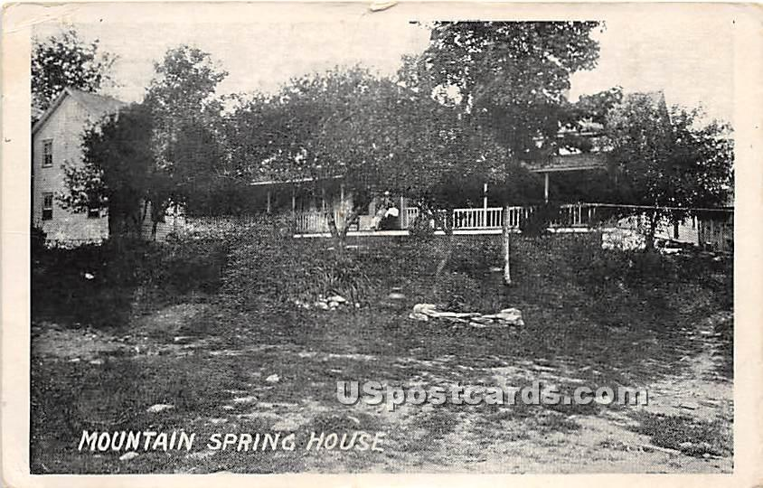 Mountain Spring House - De Bruce, New York NY Postcard