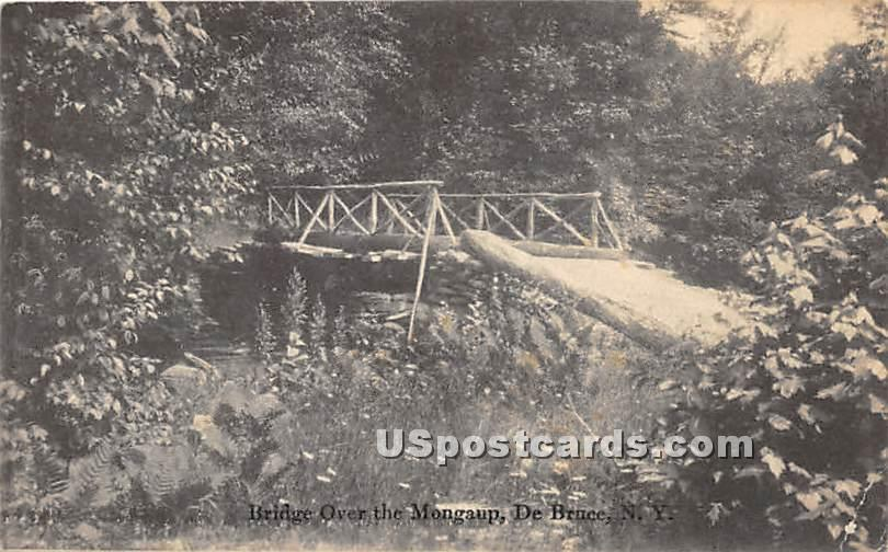 Bridge over the Mongaup - De Bruce, New York NY Postcard