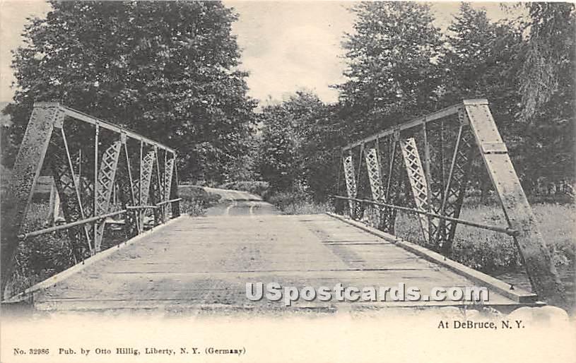 Bridge - De Bruce, New York NY Postcard