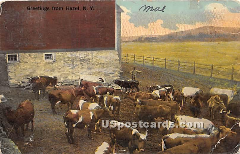 Greetings from - De Bruce, New York NY Postcard