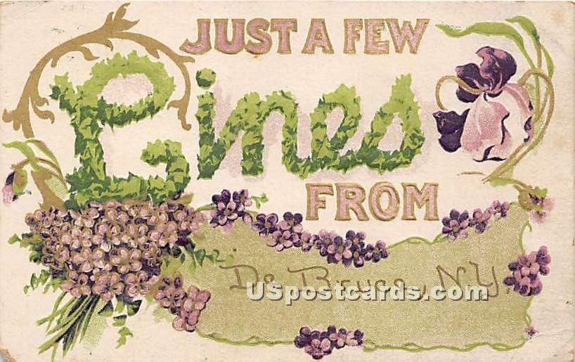 Just a Few Lines - De Bruce, New York NY Postcard