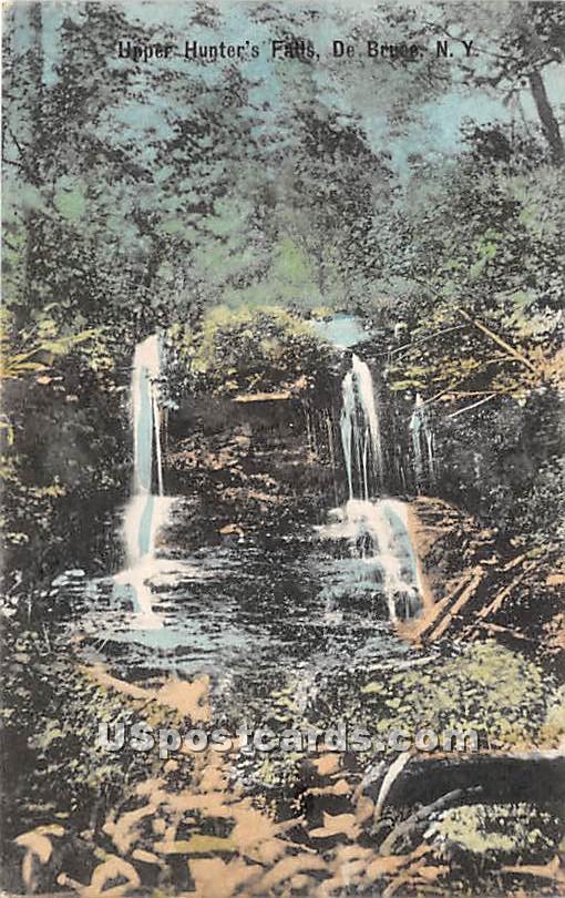 Upper Hunter's Falls - De Bruce, New York NY Postcard