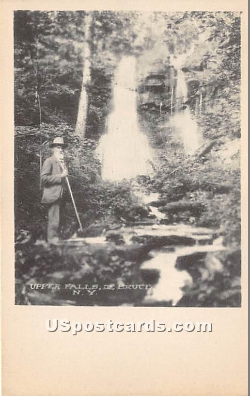 Upper Falls - De Bruce, New York NY Postcard