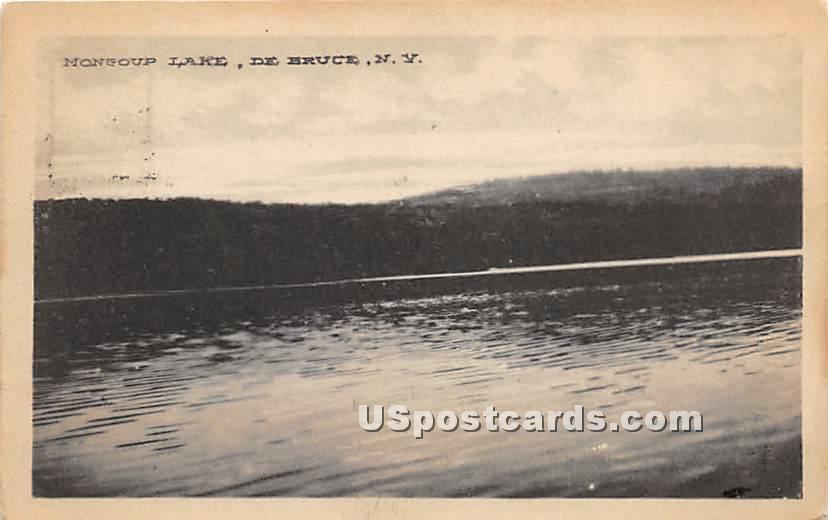 Mongoup Lake - De Bruce, New York NY Postcard