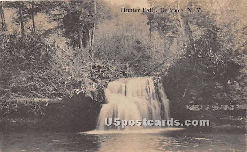 Hunter Falls - De Bruce, New York NY Postcard