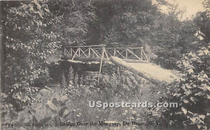 Bridge over the Mongaup - De Bruce, New York NY Postcard