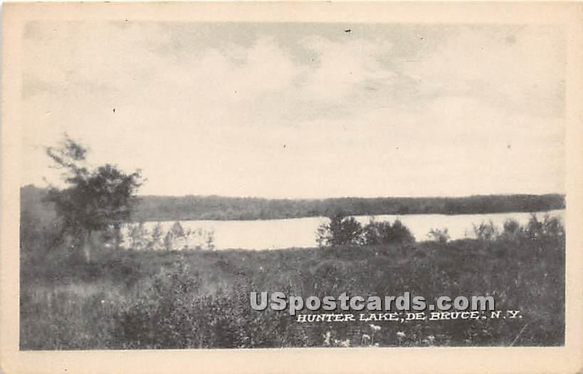 Hunter Lake - De Bruce, New York NY Postcard