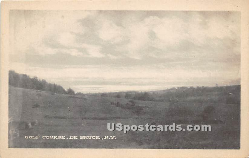 Golf Course - De Bruce, New York NY Postcard