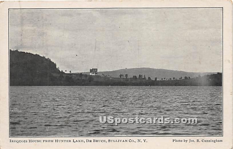 Iroquois Hosue from Hunter Lake - De Bruce, New York NY Postcard