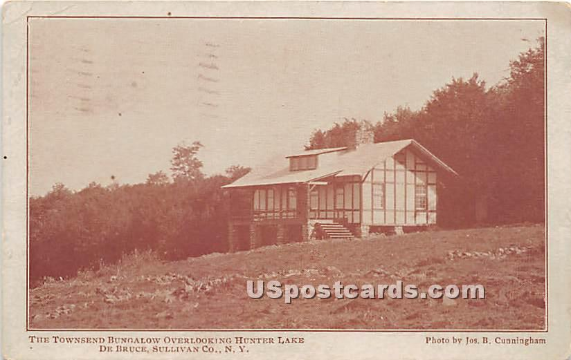Townsend Bungalow Overlooking Hunter Lake - De Bruce, New York NY Postcard