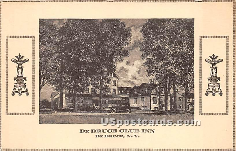 De Bruce Club Inn - New York NY Postcard