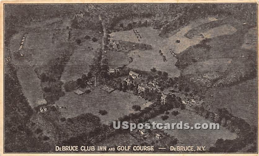 DeBruce Clun Inn and Golf Course - De Bruce, New York NY Postcard