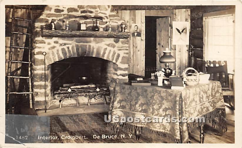 Interior Craigbert - De Bruce, New York NY Postcard