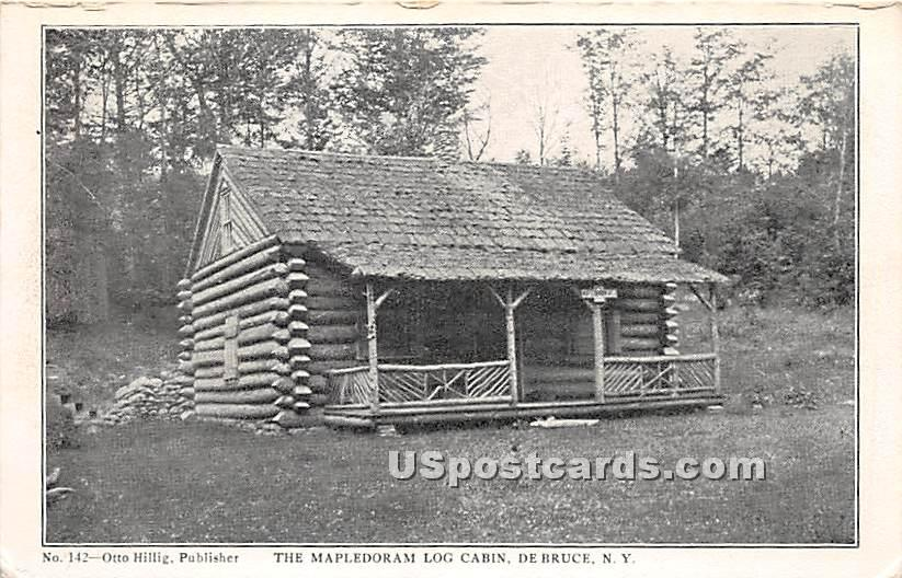 The Mapedoram Log Cabin - De Bruce, New York NY Postcard