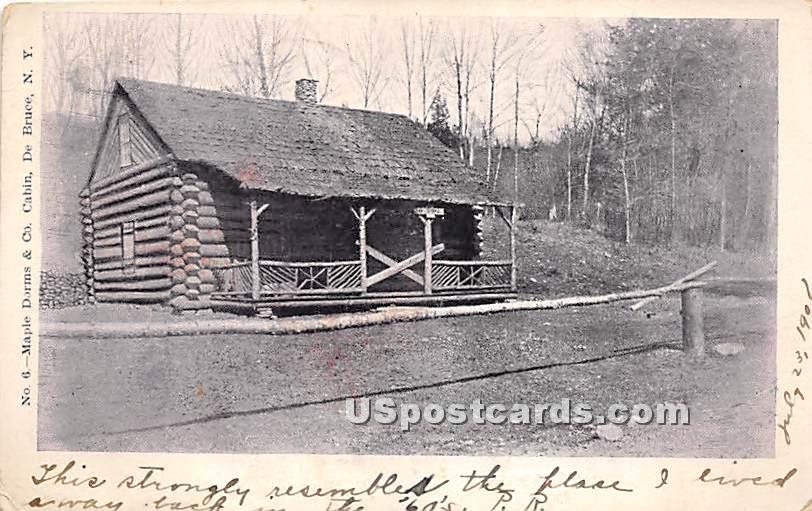 Maple Dorms & Co Cabin - De Bruce, New York NY Postcard