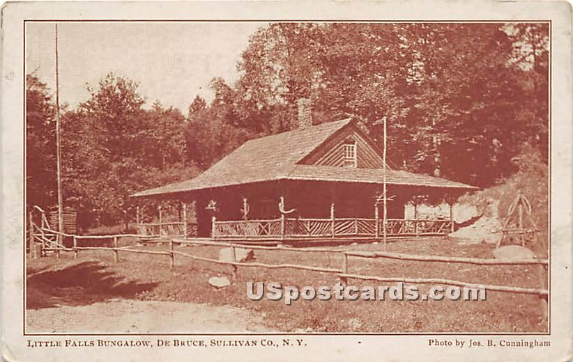 Little Falls Bungalow - De Bruce, New York NY Postcard